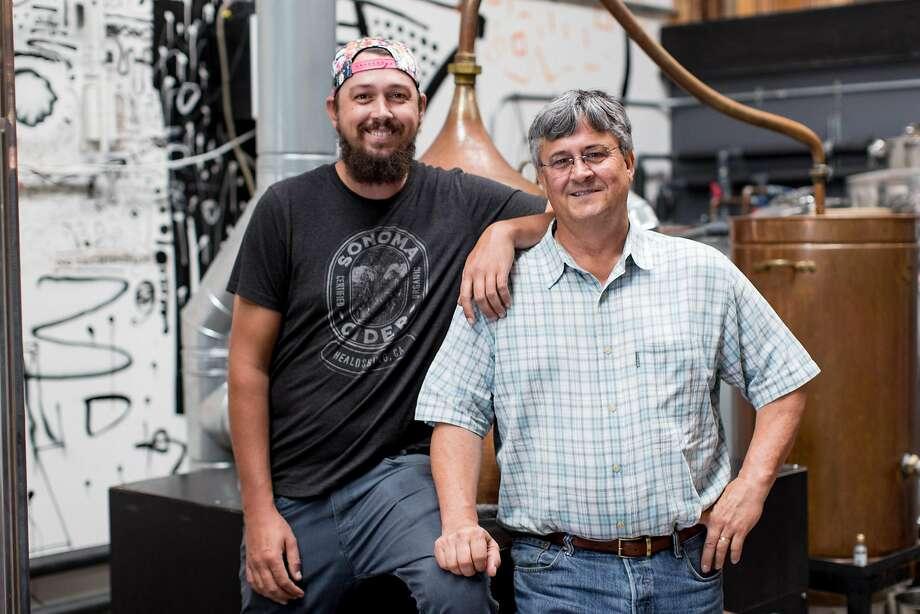 Robert Cordtz (left) and father David Cordtz are the team behind Sonoma Cider in Healdsburg. Photo: Gretchen Gause