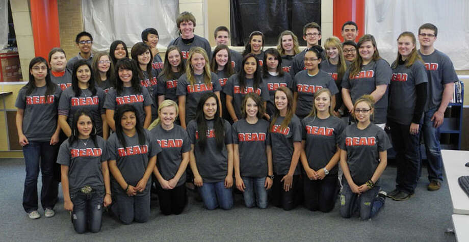 Junior Literacy Council members who will return as juniors and seniors to serve another term next year are (not in order on photo): Bianca Berumen, Heather Bozeman, Clarissa Garcia, Claire Hukill, Bailey Manning, Meredith McDonough, Erik Mendez, Mackenzie Mull, Aubree Peña, Jackie Perez, Jewelle Pinkerton, Hollye Poole, Mikalalia Quintero, Roxanne Reyes, Jessica Rios, Hannah Smith, Morgan Sweeney, Destiny Villanueva and Landon Woods. Members inducted into Junior Literacy Council are (not in order on photo): Parker Adamson, Lauren Aguirre, Jordan Castillo, Laura Beth Earhart, Alondra Espino, Emily Flores, Miranda Hastey, Matthew Holloway, Shalin Lawson, Odaliz Mendoza, McAllister Moore, Chris Ontai, Courtney Perez, Lacey Perkins, Shayla Ross, Destiny Tally, Payton Thornton, Marcela Vega, Victor Manuel Vega, Candace Vernon and Jaci Wirth. Photo: Gail M. Williams | Plainview Herald