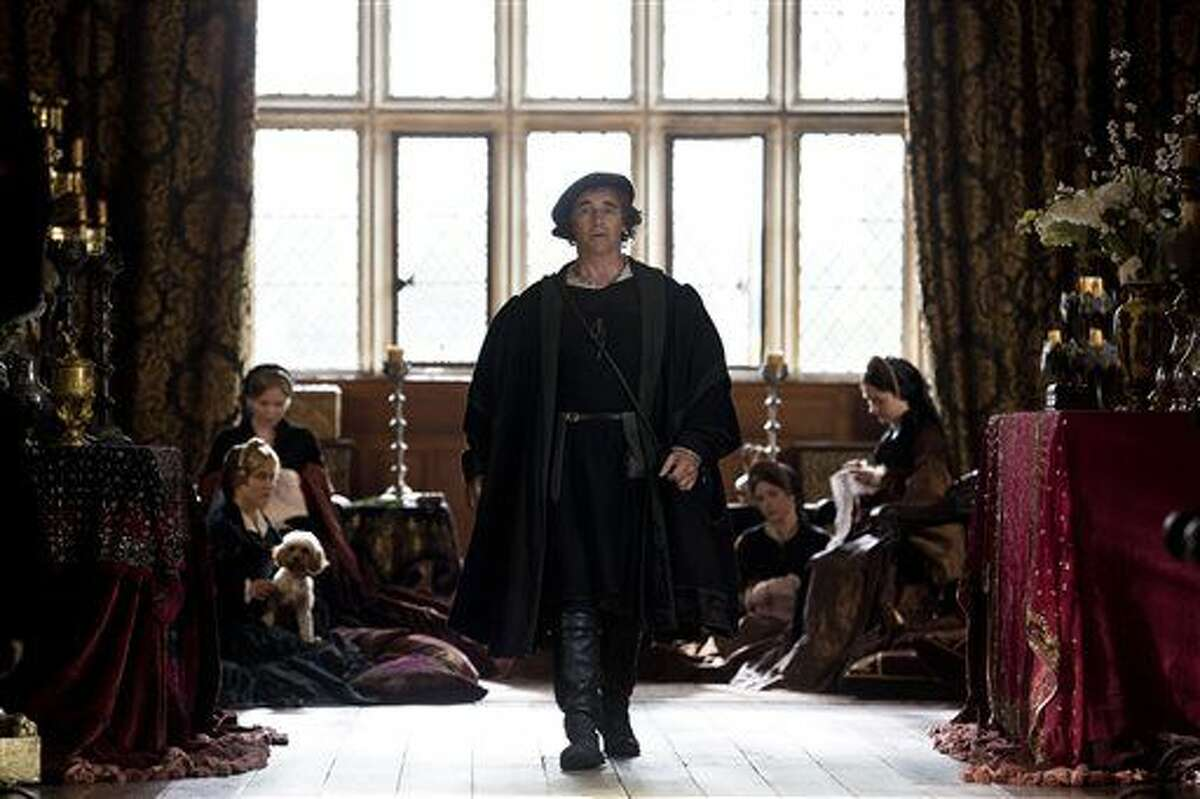 This photo released by Masterpiece/BBC shows Mark Rylance as Thomas Cromwell in a scene from episode 1 of the television series,