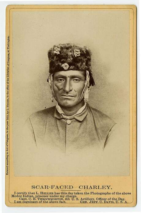 "Louis Herman Heller, ""Scar-Faced Charley"" (1873). Photo: Photographer: Heller, California Historical Society"