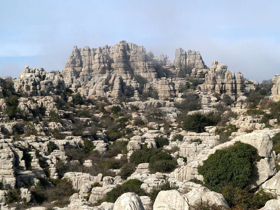The mountain formations of El Torcal de Antequera in Andalusia, Spain, are part of the new Antequera Dolmens World Heritage Site. Photo: Moreno Estudio Antequera / ��Conjunto Arqueol�gico D�lmenes De Antequera 2007