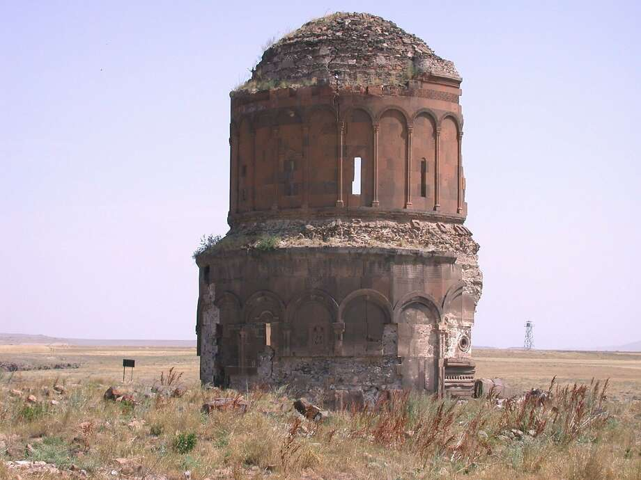 The archaeological site of Ani, a Silk Road center and newly designated World Heritage Site near Turkey's border with Armenia, includes ruins of medieval buildings such as the Surp Amenap'rkitch Kilisesi. Photo: Fahriye Bayram 2005