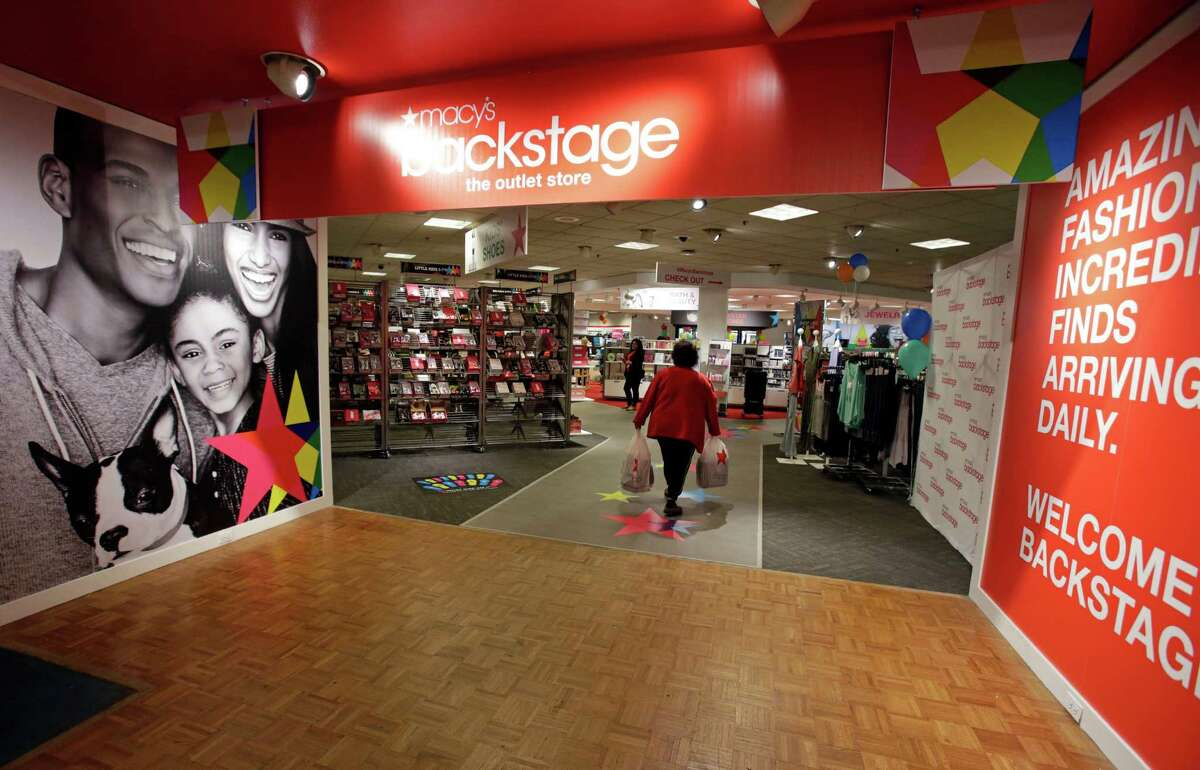 A shopper enters the new Macy's Backstage store in White Plains, NY, Thursday, May 5, 2016. Macy's opened its Backstage concept in its existing Macy's store at Ingram Park Mall in San Antonio on Tuesday.