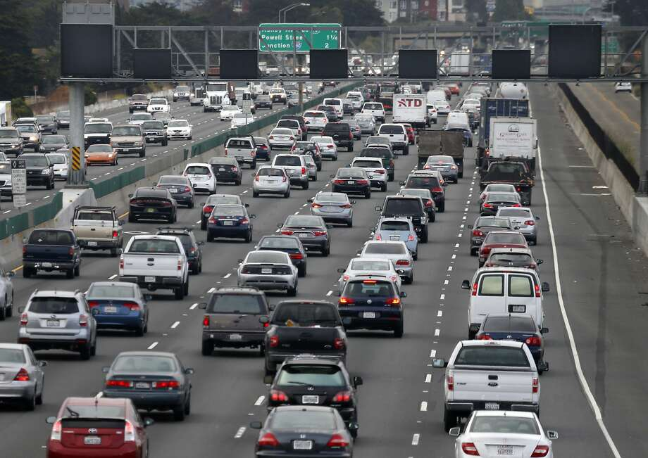 As commuters along westbound Interstate 80 can probably confirm, Bay Area traffic congestion is at an all-time high, meaning more time crawling along behind the wheel, according to the Metropolitan  Transportation Commission's annual survey released Monday. Photo: Paul Chinn, The Chronicle
