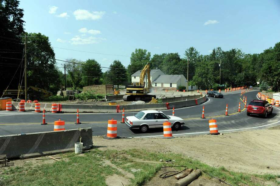 The town is putting a traffic bypass at the Plumtrees Road and Walnut Hill Road intersection in Bethel. Photo Wednesday, July 20, 2016. Photo: Carol Kaliff / Hearst Connecticut Media / The News-Times
