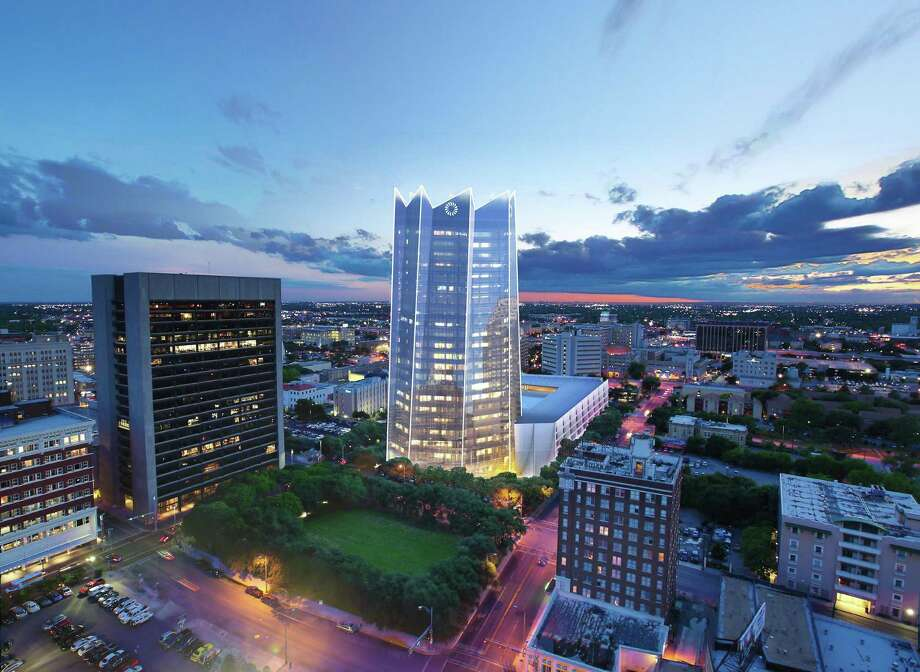 TRT Holdings Inc., a Dallas holding company that owns the Omni Hotels and Resorts chain, has joined the development team for the new Frost Tower downtown. Photo: Illustration Courtesy Of Pelli Clarke Pelli