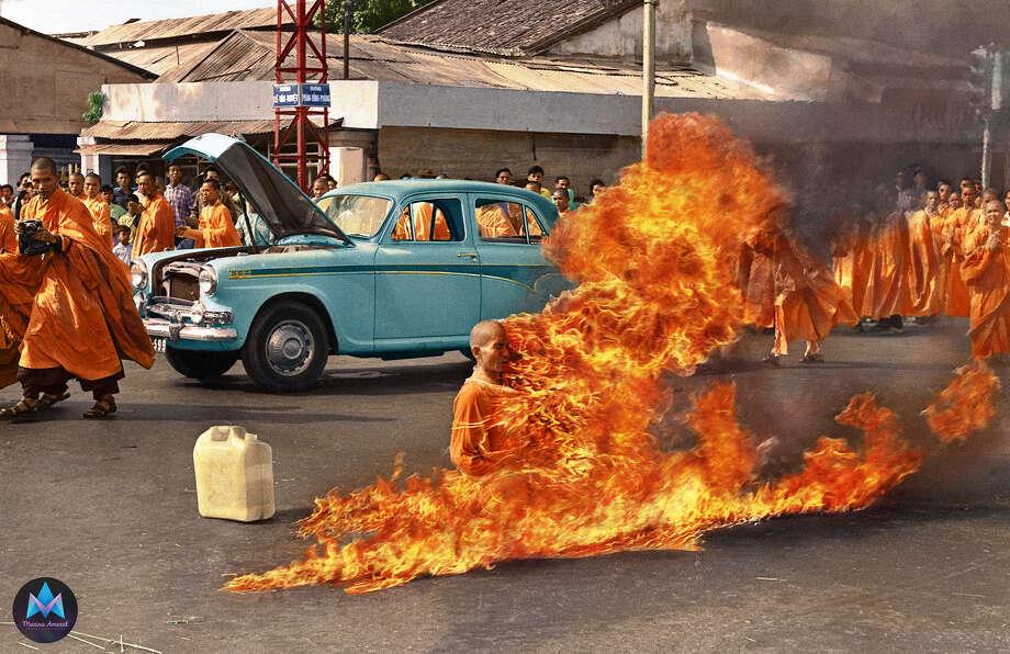 The burning monk, June 1963. Photo: Marina Amaral / Www.marinamaral.com