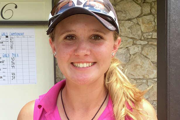 Hannah Holzmann poses at Brackenridge Park Golf Course on July 20, 2016.
