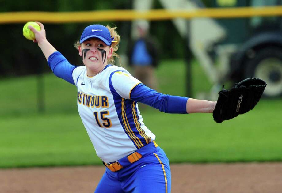 MVPRAEANNE GEFFERT, SEYMOUR:Senior pitcher had a 0.28 ERA with 380 strikeouts in 172 innings with a 25-1 record to lead the Wildcats to the Class M and NVL championships … Allowed only 53 hits during senior season with six perfect games and seven no-hitters … Batted .372 with 25 RBIs … Posted career record of 8-9 with a 0.66 ERA and 1108 strikeouts … NVL Pitcher of the Year … All-State Class M, Academic All-State, All-NVL … Will play at Bucknell. Photo: Christian Abraham / Hearst Connecticut Media / Connecticut Post