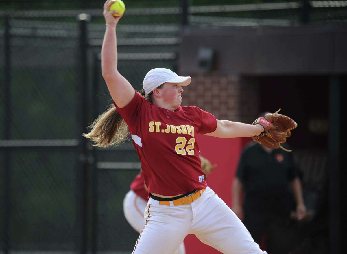 NICOLE WILLIAMS, ST. JOSEPH: Senior pitcher posted a 24-2 record with a 0.60 ERA and 323 strikeouts for the Cadets, who won the FCIAC championship and reached the Class M semifinals ... Also hit .382 with three home runs and 19 RBIs ... Posted career record of 80-8 with 0.74 ERA, including 42 shutouts ... All-State Class M, All-FCIAC first team.