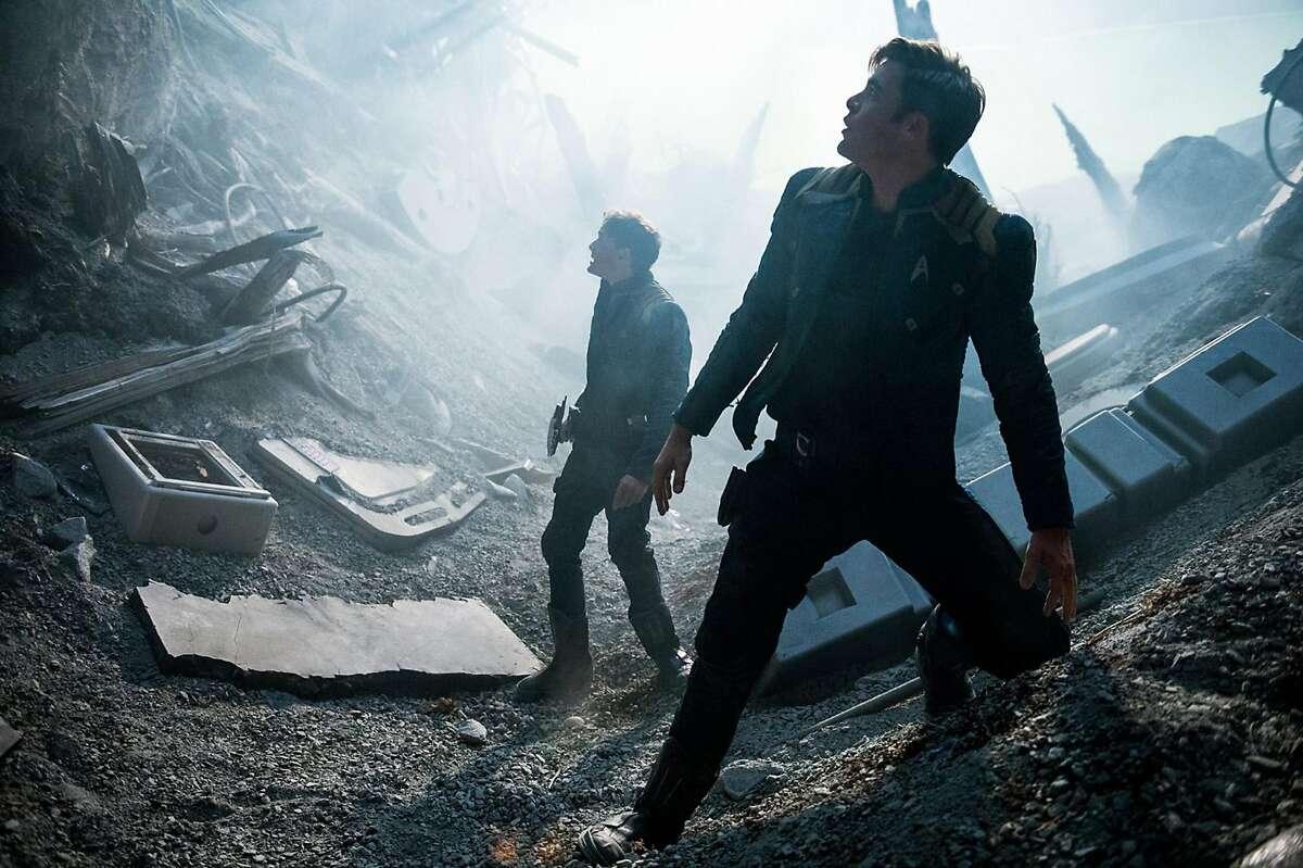 "Anton Yelchin and Chris Pine in ""Star Trek Beyond."" (Kimberly French/Paramount Pictures)"