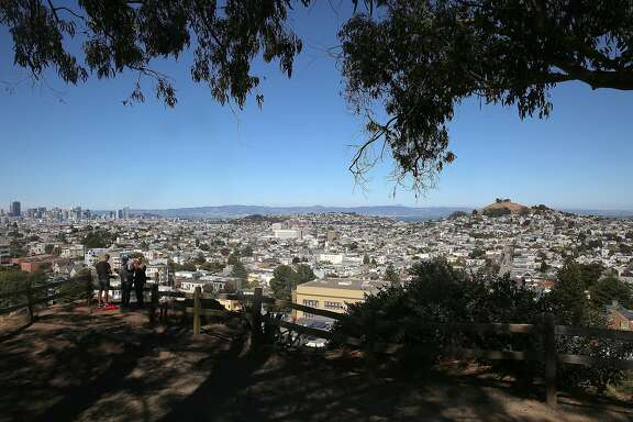 Outlook seen on Billy Goat Hill on Tuesday, July 19, 2016, in San Francisco, Calif.