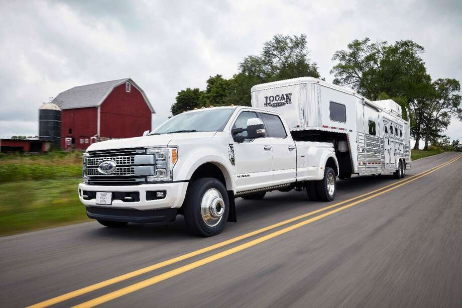 2017 Ford F-450 PlatinumStarting price: $77,325MPG: UnavailableHP: 440Engine: 6.7L power stroke V8 turbo diesel Photo: The Ford Motor Company