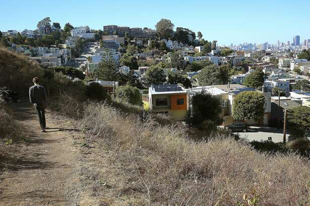 View of a trail on Billy Goat Hill on Tuesday, July 19, 2016, in San Francisco, Calif.