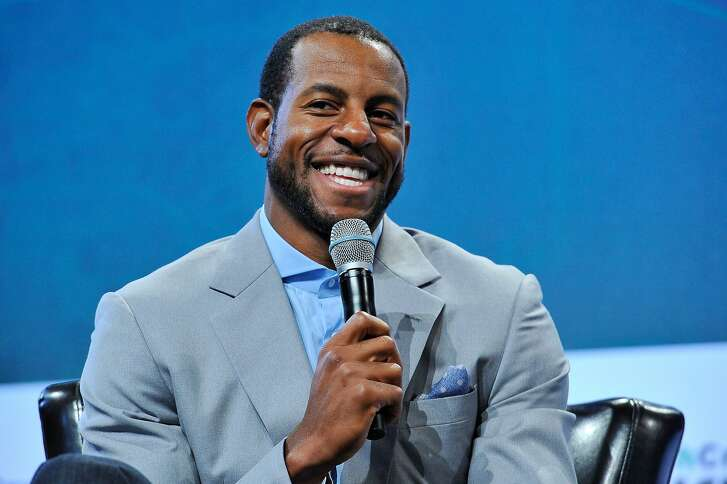 SAN FRANCISCO, CA - SEPTEMBER 22:  Andre Iguodala of the Golden State Warriors speaks onstage during day two of TechCrunch Disrupt SF 2015 at Pier 70 on September 22, 2015 in San Francisco, California.  (Photo by Steve Jennings/Getty Images for TechCrunch)