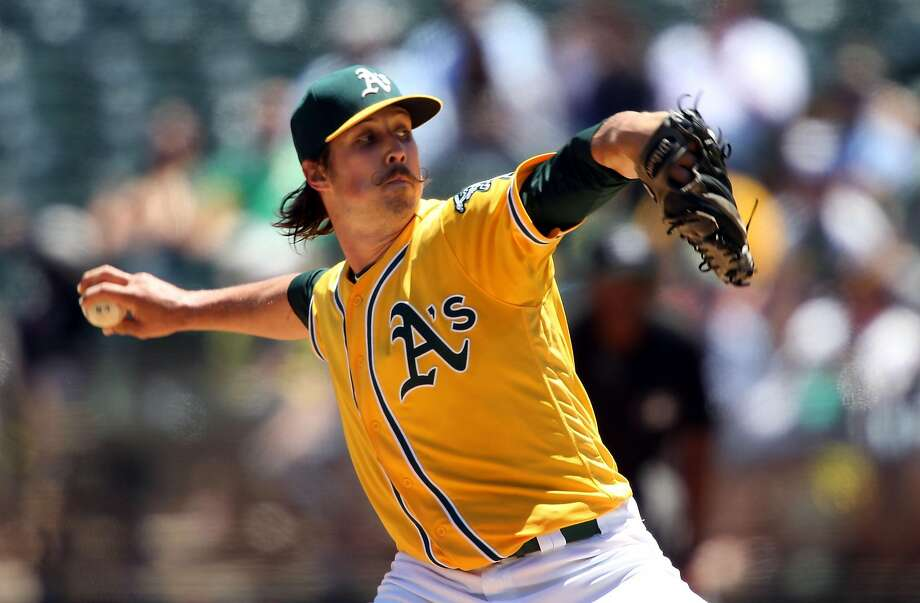 OAKLAND, CA - JULY 20: Daniel Mengden #67 of the Oakland Athletics pitches against the Houston Astros at the Oakland-Alameda Coliseum on July 20, 2016 in Oakland, California.  (Photo by Don Feria/Getty Images) Photo: Don Feria, Getty Images