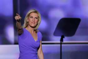 Conservative political commentator Laura Ingraham walks on stage during the third day of the Republican National Convention in Cleveland, Wednesday, July 20, 2016.