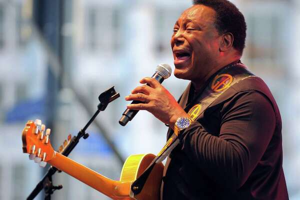 George Benson entertains the crowd during his concert at Wednesday Night Live! in downtown Stamford on July 20, 2016.