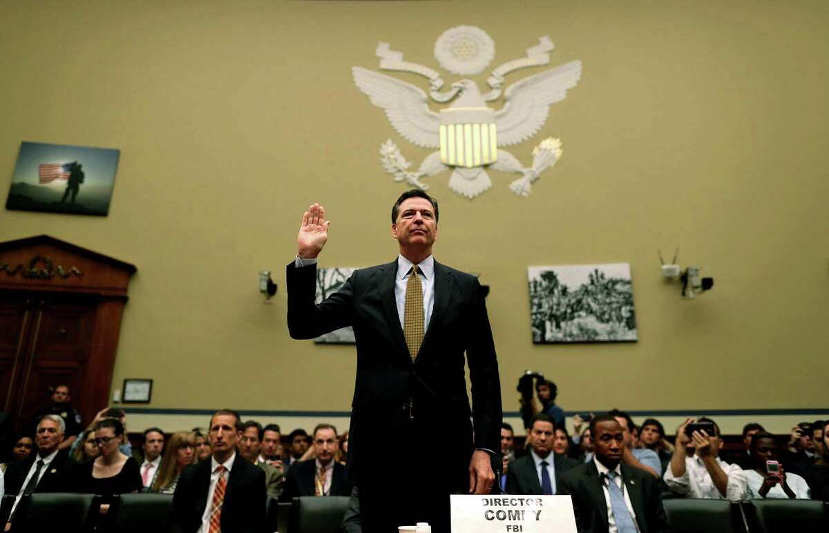 : FBI Director James Comey is sworn in during a hearing before House Oversight and Government Reform in Washington, DC. Readers are still upset over his decision not to prosecute Democratic presidential candidate Hillary Clinton over her use of an email server.