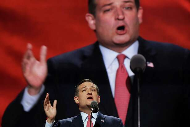 CLEVELAND, OH - JULY 20:  Sen. Ted Cruz (R-TX) delivers a speech on the third day of the Republican National Convention on July 20, 2016 at the Quicken Loans Arena in Cleveland, Ohio. Republican presidential candidate Donald Trump received the number of votes needed to secure the party's nomination. An estimated 50,000 people are expected in Cleveland, including hundreds of protesters and members of the media. The four-day Republican National Convention kicked off on July 18.  (Photo by Chip Somodevilla/Getty Images) ORG XMIT: 655469903