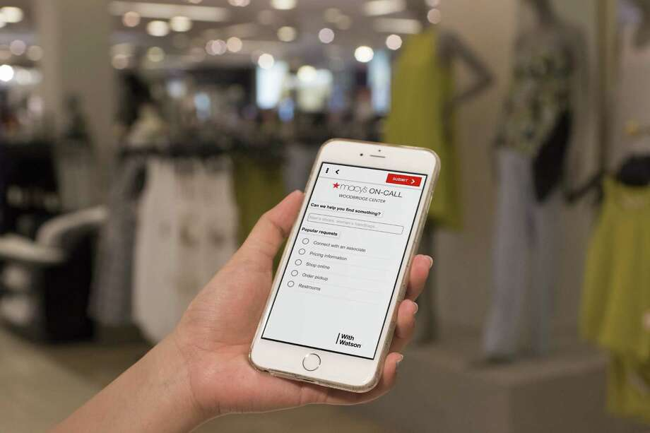 The Macy's mobile tool can tell customers where to find items, among other things. Macy's says it wants to free up employees to help with more complicated questions. Photo: Tristan Fuge, HONS / Macy's Inc.