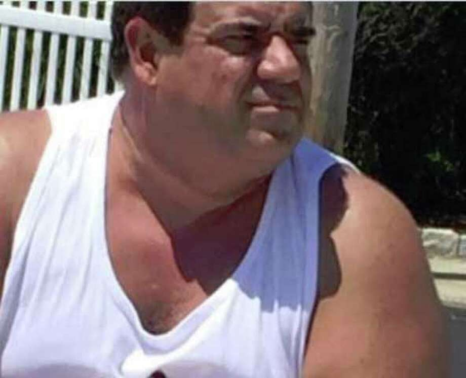 Man accused of exposing himself to girls at Anchor beach in Milford on July 20, 2016, in a cell phnoe photo taken by one of the girls. Photo: Contributed Photo