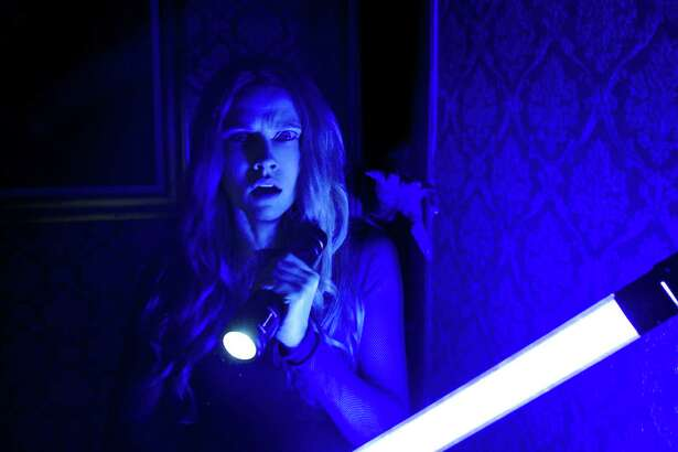 """Theresa Palmer in """"Lights Out."""" (Warner Bros. Pictures)"""