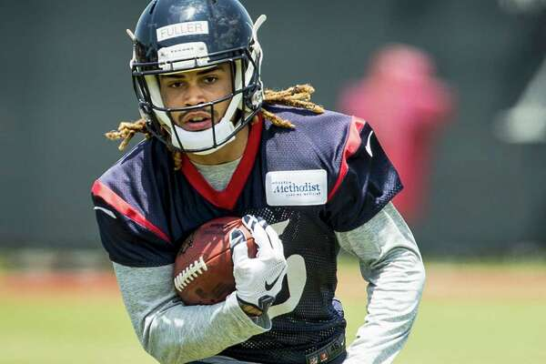 Houston Texans wide receiver Will Fuller runs with the football during a drill at rookie mini camp at The Methodist Training Center on Saturday, May 7, 2016, in Houston. ( Brett Coomer / Houston Chronicle )