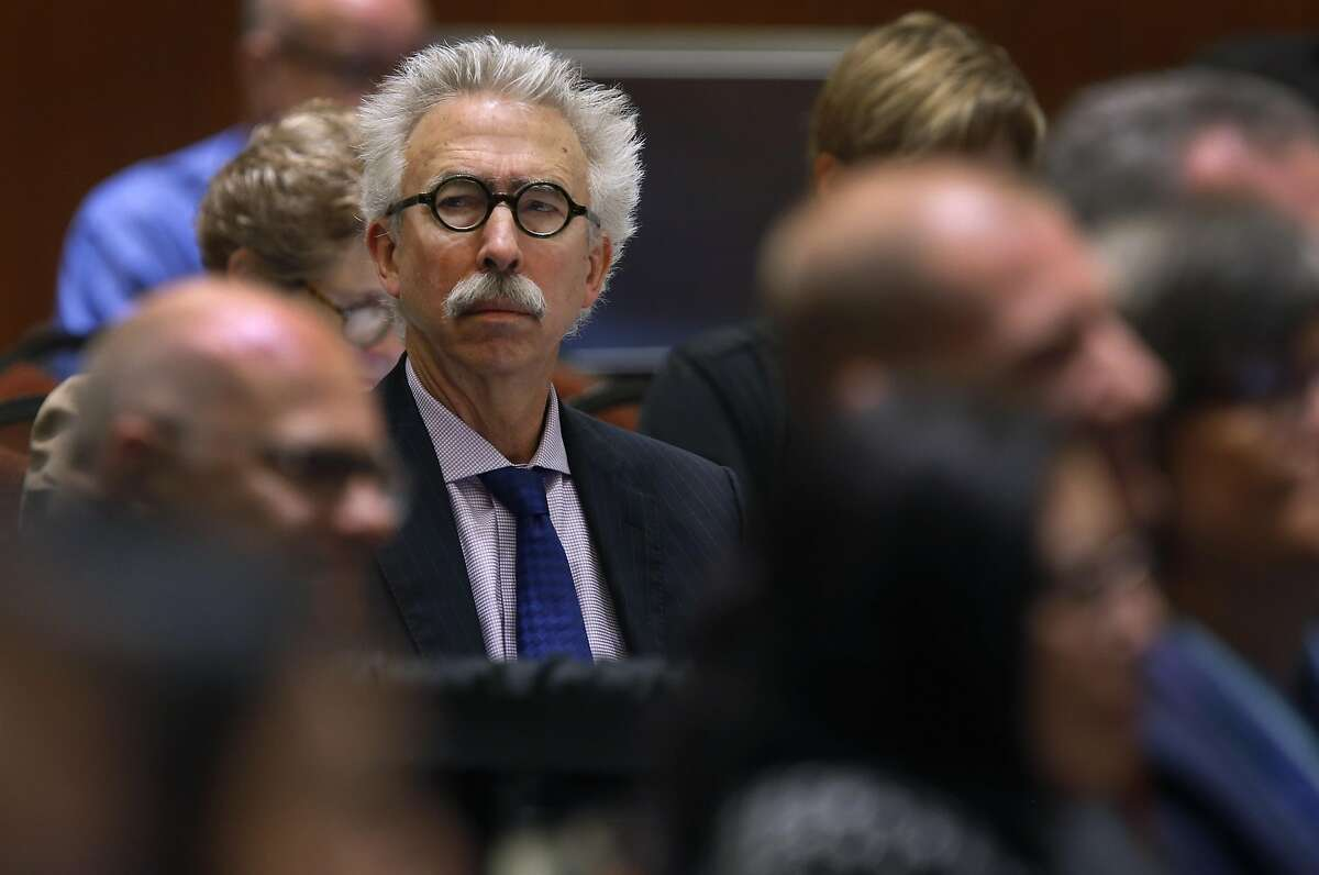 UC Berkeley chancellor Nicholas Dirks attends a meeting of the University of California Board of Regents to consider an amendment of a policy on outside professional activities of top university management officials in San Francisco, Calif. on Thursday, July 21, 2016.