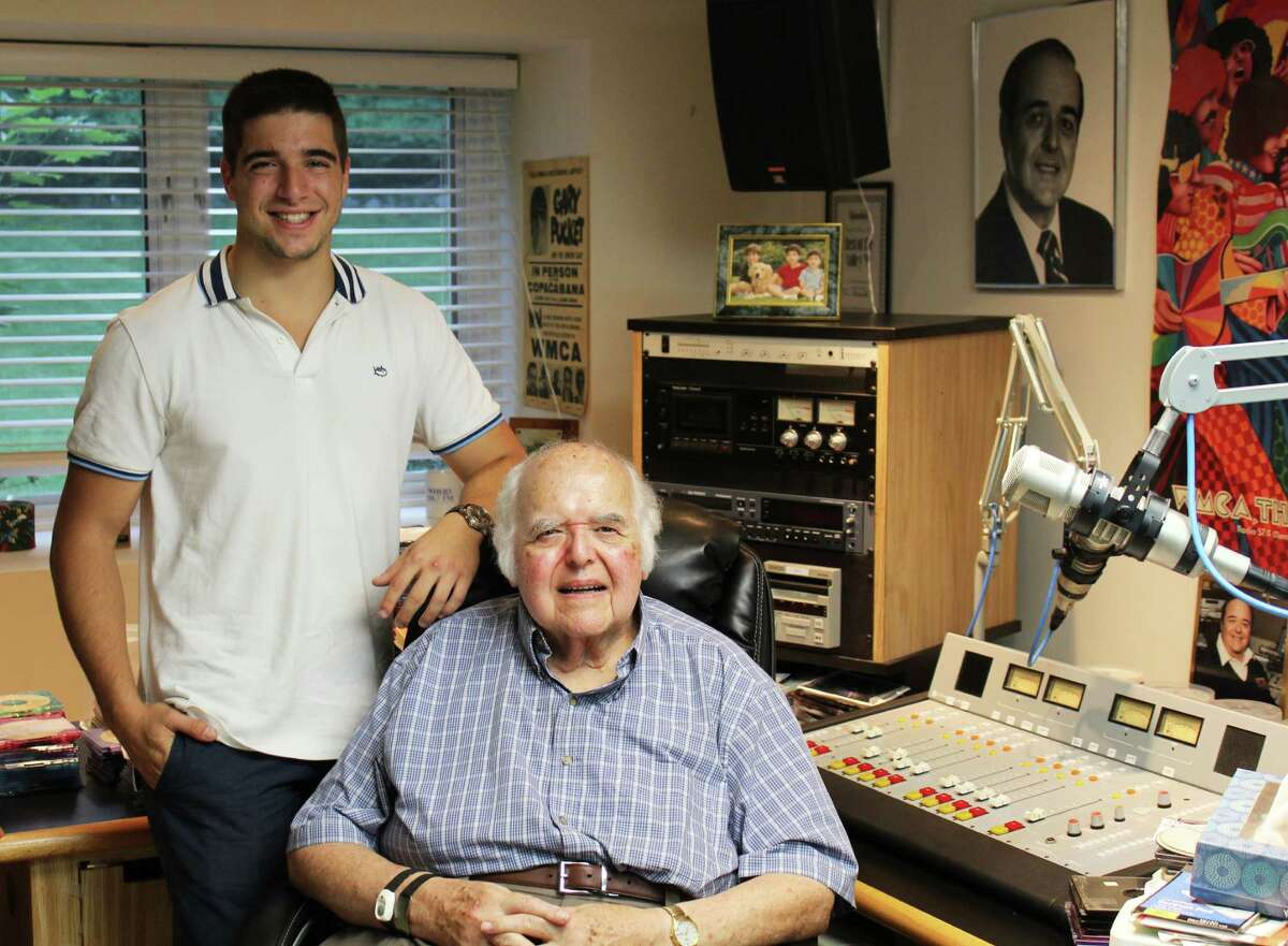 Kyle Baer and his grandfather, disc jockey and radio personality Ed Baer, began Westport Records last month to sell the thousands of records Ed accumulated over his career. Pictured here in Ed's radio studio on July 17, 2016 in Westport, Conn.