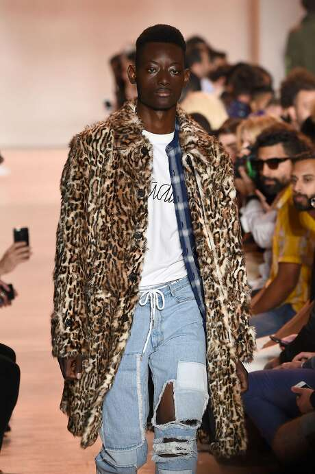 A model walks the runway during the Ovadia & Sons Spring 2017 Fashion Show at New York Fashion Week Men's. Photo: Jamie McCarthy, Getty Images