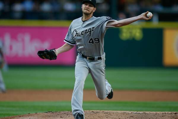 SEATTLE, WA - JULY 18:  Starting pitcher Chris Sale #49 of the Chicago White Sox pitches against the Seattle Mariners in the third inning at Safeco Field on July 18, 2016 in Seattle, Washington.  (Photo by Otto Greule Jr/Getty Images)