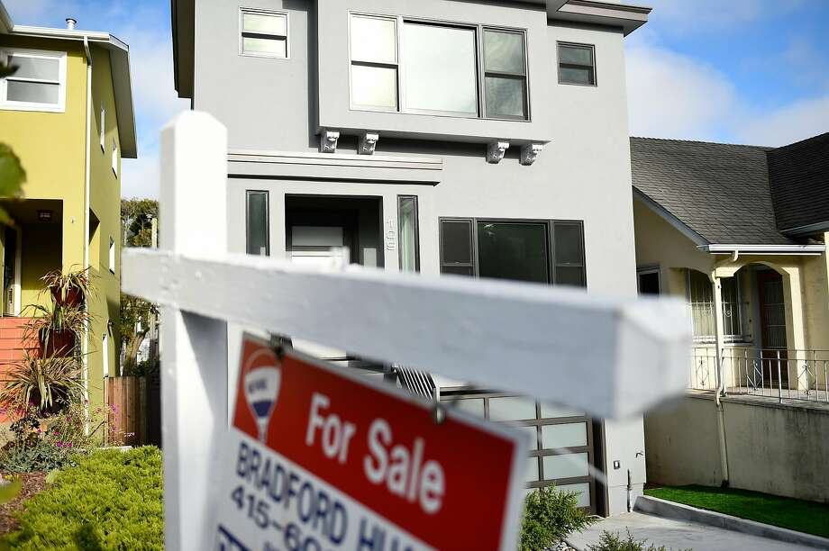 For sale sign outside of a home on Forrest Side Ave on Wednesday, July 20, 2016 in San Francisco, California. Photo: Michael Noble Jr. / The Chronicle 2016