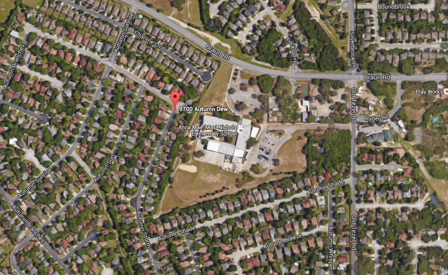 SAPD arrived at the 9700 block of Autumn Dew around 10 a.m. on Thursday, July 21, 2016, after the homeowner and his wife called police to report that a man was attempting to break into their home. Photo: Google Maps