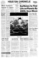 Houston Chronicle front page from July 22, 1969.