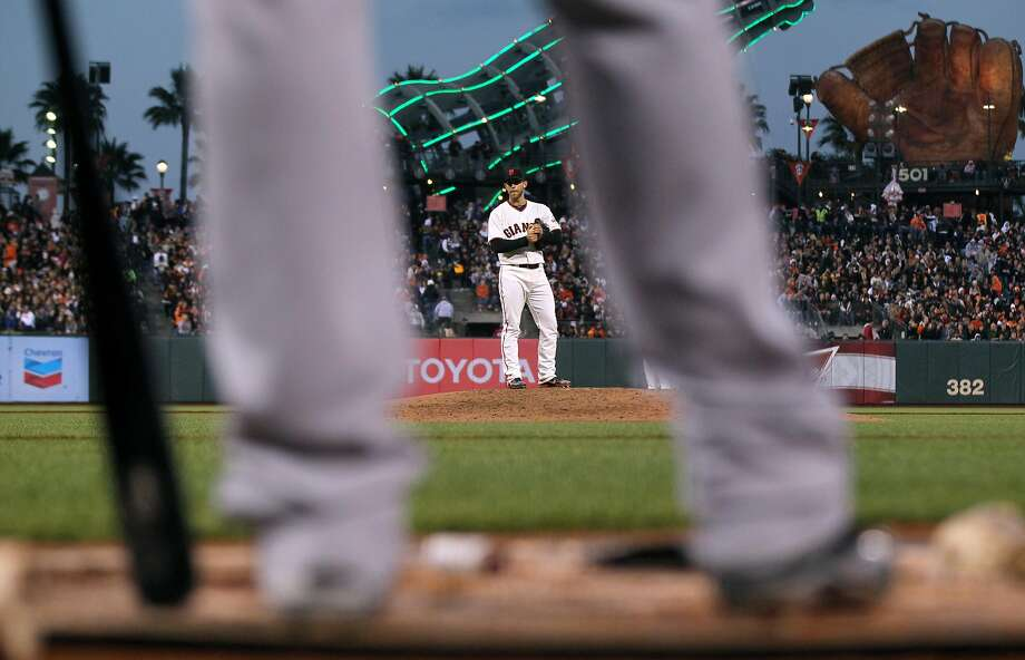 Madison Bumgarner says he would have liked to play in the era when pitchers started every fourth day and worked 300 innings. Photo: Lance Iversen, The Chronicle