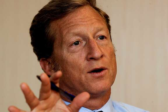 Venture capitalist Tom Steyer, in San Francisco, Ca. on Tuesday July 20, 2010, has teamed up with former Secretary of State George Schultz  to defeat an attempt to repeal California's AB32, the climate change bill in this coming November's election.