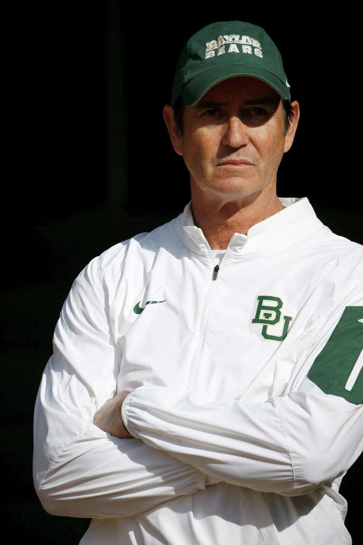 Then-head coach Art Briles of the Baylor Bears waits in the tunnel before the Bears take on the Texas Longhorns at McLane Stadium on Dec. 5, 2015 in Waco.
