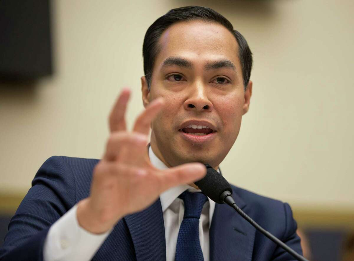 In this July 13, 2013, photo, House and Urban Development Secretary Julian Castro testifies on Capitol Hill in Washington. Castro is being considered by Hillary Clinton as a vice presidential pick. (AP Photo/Pablo Martinez Monsivais, File)