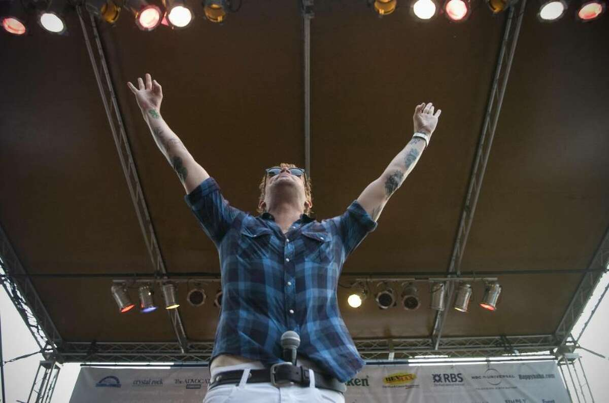 Mark McGrath and Sugar Ray performs at during Alive@Five in Stamford, Conn. on Thursday, Aug. 6, 2009.