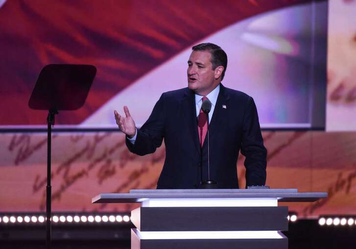 Ted Cruz addresses the crowd at the Republican National Convention in Cleveland Wednesday, but he got booed when it became clear he wouldn't be endorsing Donald Trump. (Michael Robinson-Chavez / Washington Post)