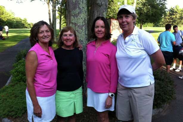 From left to right, Amanda Oliva, Christine Veator, Pat Kravetz and Heidi Nolte were the foursome that finished with the best low gross score at the Swing Fore Hope Charity Golf Tournament at Griffith E. Harris Golf Course in Greenwich Thursday. They posted a winning score of 71 at the tournament, which benefited Kids In Crisis and The Alzheimer's Association (Connecticut Chapter).