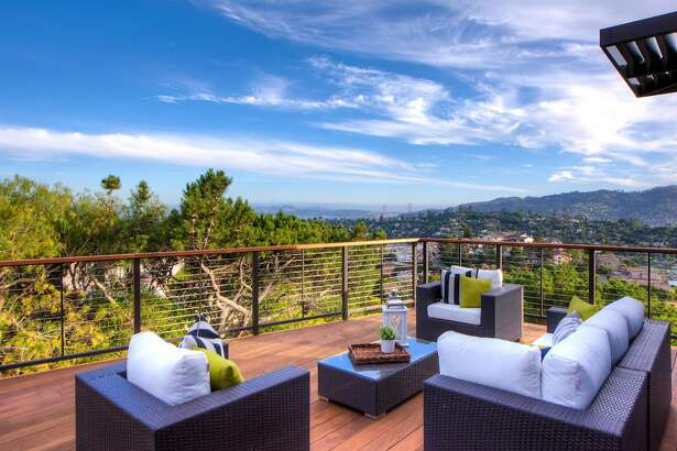 The Tiburon home's view deck offers a sweeping view of the penninsula's surroundings.