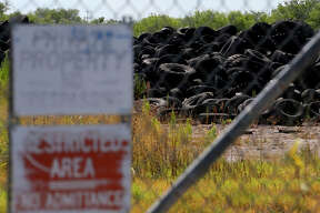 This is just a portion of the millions of tires at the former Safe Tire Disposal Corp. on Applewhite Road on the City's South Side. A state judge ordered the current owner to remove most of the tires from the dump.