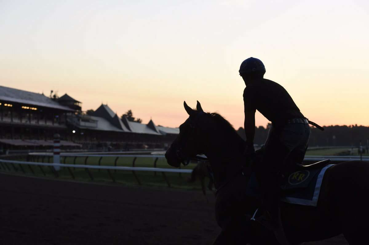 The best place to enjoy breakfast in Saratoga Springs isn't a restaurant at all. Grab your breakfast of choice to go and head to the track in the early morning. You'll get to take in great views of the horses working out and you won't have to push through crowds to do it.
