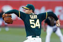 OAKLAND, CA - JULY 21: Sonny Gray #54 of the Oakland Athletics pitches against the Tampa Bay Rays during the first inning at the Oakland Coliseum on July 21, 2016 in Oakland, California. (Photo by Jason O. Watson/Getty Images)
