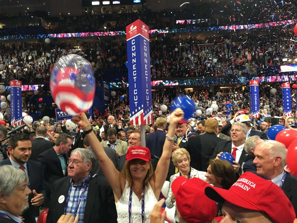 Scenes from the final night of the Republican National Convention, Thursday, July 21, 2016.