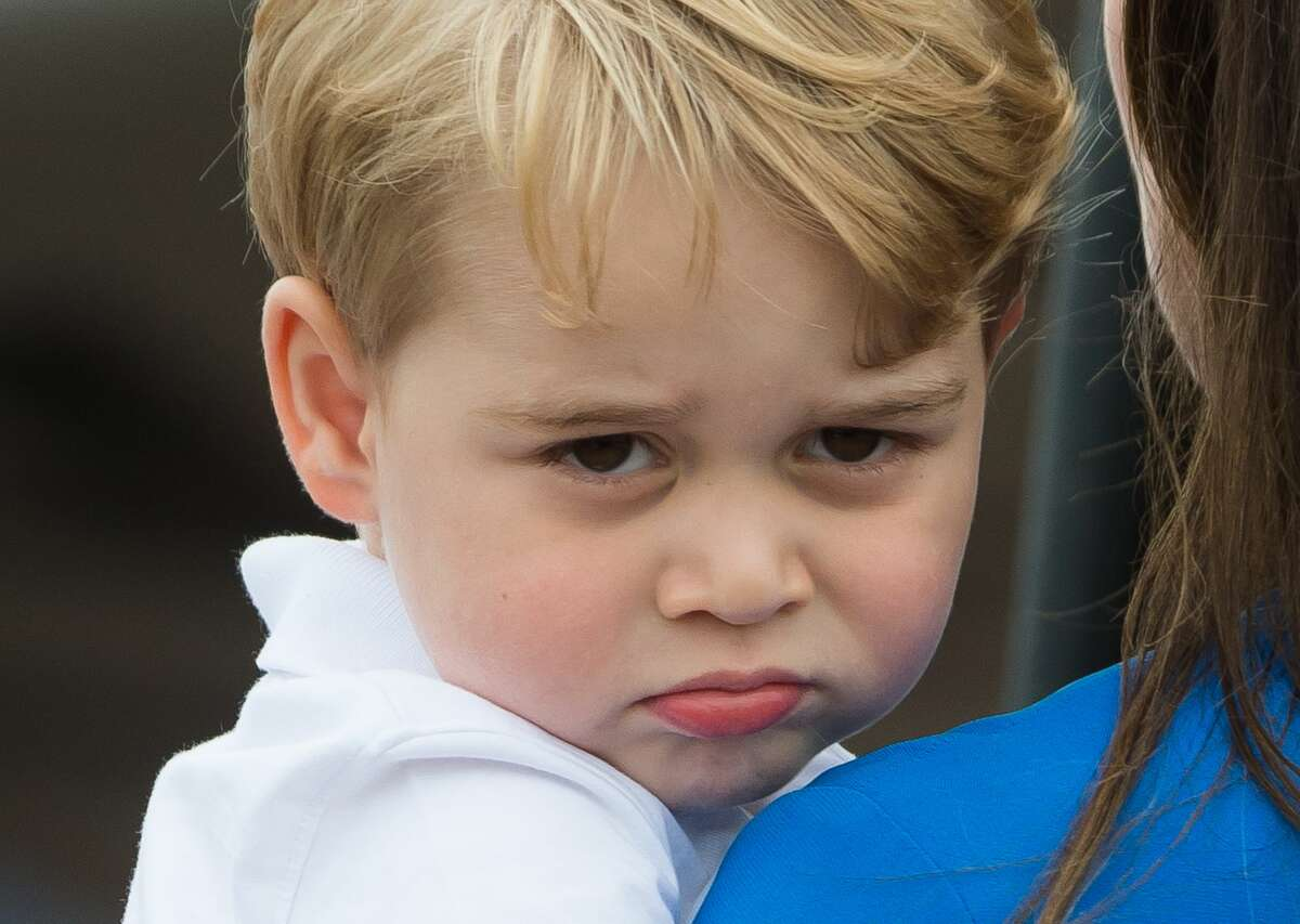 Prince George of Cambridge attends the The Royal International Air Tattoo at RAF Fairford on July 8, 2016 in Fairford, England.