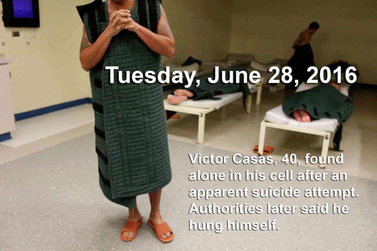 Photo: An inmate spends time in the low-risk Clinical Observation Unit of the Bexar County Jail, Monday, July 18, 2016. Upon intake, inmates are evaluated for mental and physical health problems before being released into the jail population.
