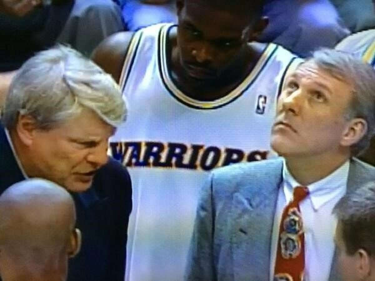 Gregg Popovich (right) served as an assistant coach to head coach Don Nelson (left) with the Golden State Warriors in 1992.